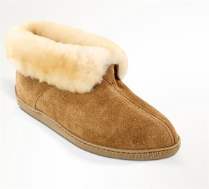 Tan Minnetonka Sheepskin Ankle Boot