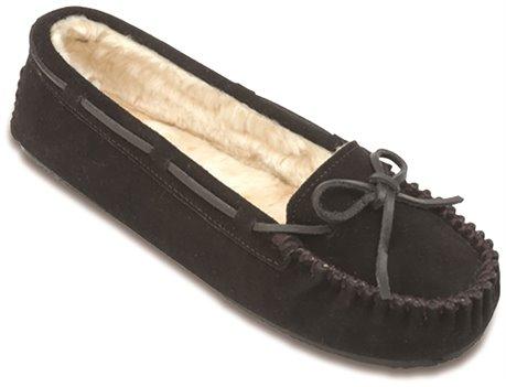 Black Minnetonka Cally Slipper