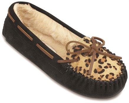 Minnetonka Leopard Cally Slipper in