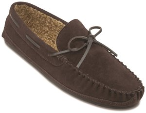 Chocolate Minnetonka Casey Slipper