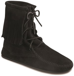 Black Minnetonka Tramper Ankle Hi Boot