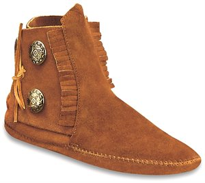 Brown Softsole Minnetonka Two Button Boot