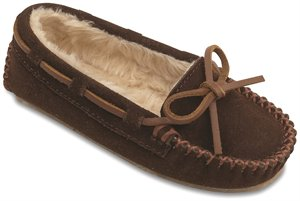 Chocolate Minnetonka Cassie Slipper