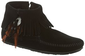 Black Minnetonka Bootie with Concho