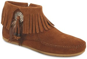 Brown Minnetonka Bootie with Concho