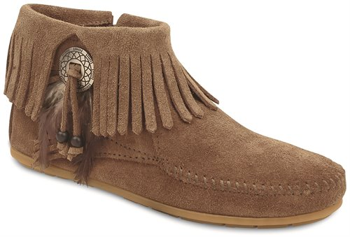 Taupe Minnetonka Bootie with Concho