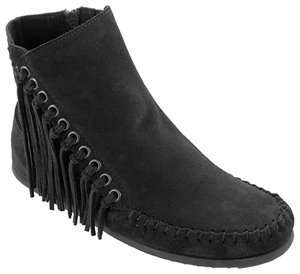 Black Minnetonka Willow Boot