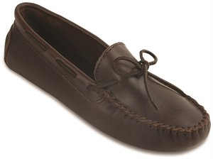 Dark Brown Minnetonka Classic Driving Moc
