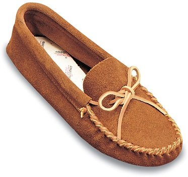 Brown Minnetonka Leather Laced Softsole