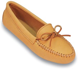 Natural Minnetonka Double Deerskin Softsole