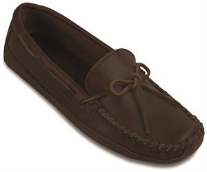 Brown Minnetonka Double Bottom Cowhide Driving Moc
