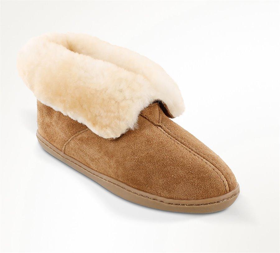 Minnetonka Sheepskin Ankle Boot : Tan - Womens