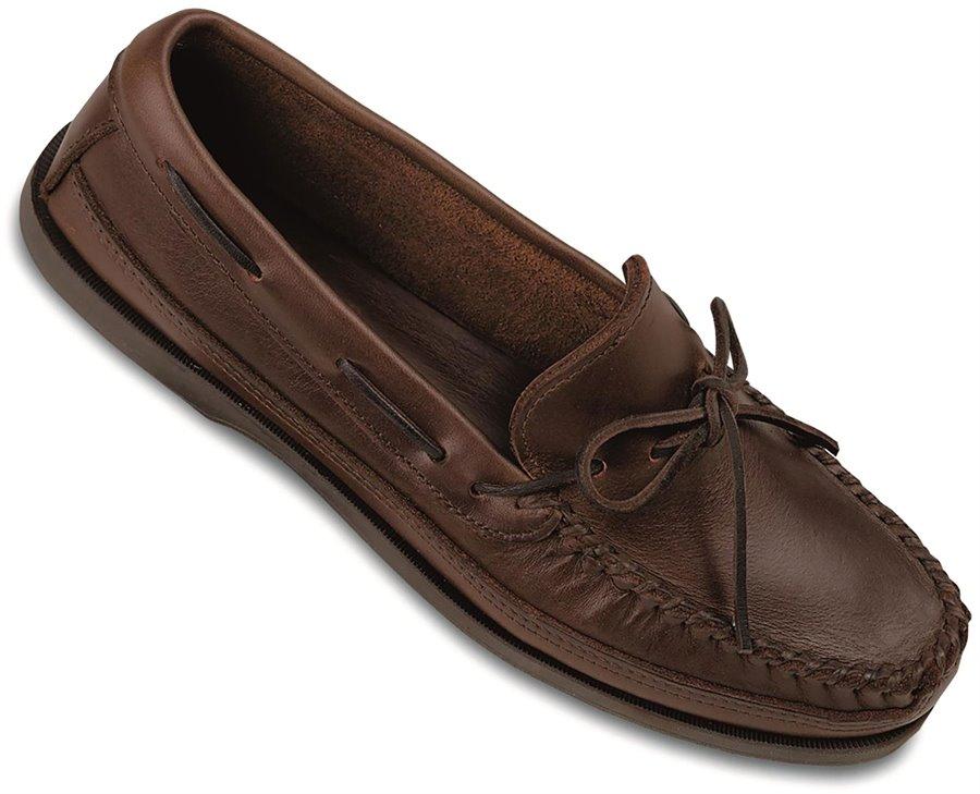 Minnetonka Double Bottom Hardsole : Brown - Mens