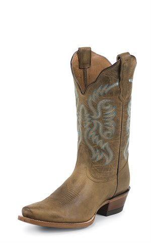 Medium Brown Nocona Boots Blue