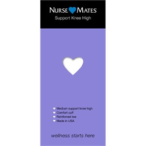 White Nurse Mates Support Knee Highs