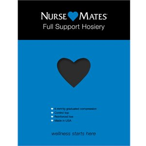 Black Nurse Mates Full Support Hosiery