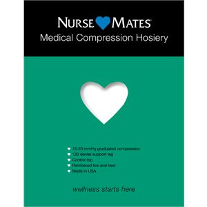 White Nurse Mates Medical Compression