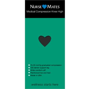 Black Nurse Mates Medical Compression Knee Hi