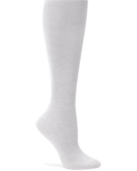 White Nurse Mates Compression Trouser - Hearts White