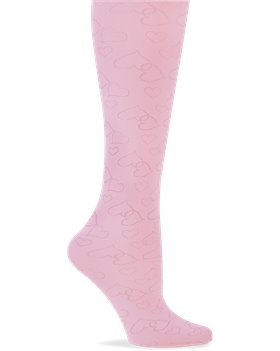 Pink Nurse Mates Compression Trouser - Hearts