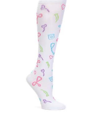 Medical Symbols White Nurse Mates Compression Socks Medical Symbols