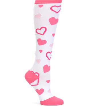 Pink Hearts Nurse Mates Compression Socks