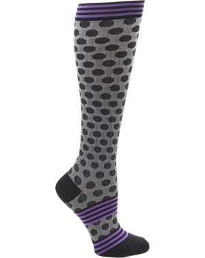 Sporty Dot Black Nurse Mates Compression Socks Sporty Dot
