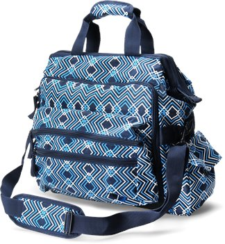 NAVY GEOMETRIC Nurse Mates Ultimate Nursing Bag