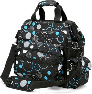 Circles Turquoise  Nurse Mates Ultimate Nursing Bag