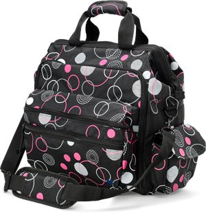 Circles Raspberry Nurse Mates Ultimate Nursing Bag