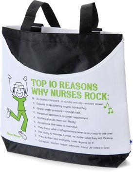 White Nurse Mates Scoop Tote