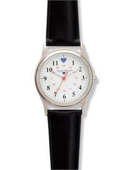 Black Strap Nurse Mates Chrome Military Watch