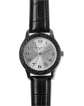 Black Nurse Mates Classic Textured Watch