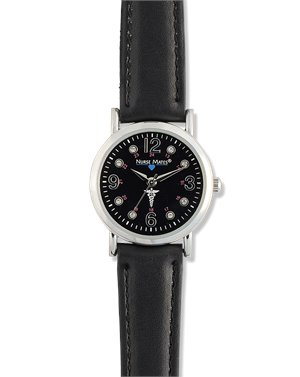 Black Nurse Mates Caduceus Watch
