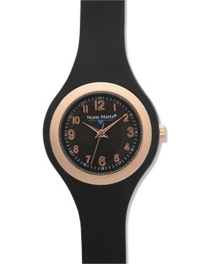 Black Nurse Mates Uni-body Slim Watch