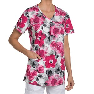 Multi Red Nurse Mates Haley Print Top
