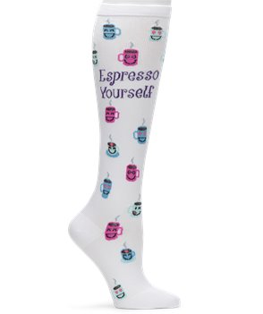 ESPRESSO YOURSELF Nurse Mates Compression Socks ESPRESSO YOU