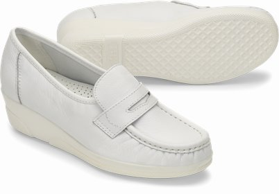 Pennie shoes shown in White
