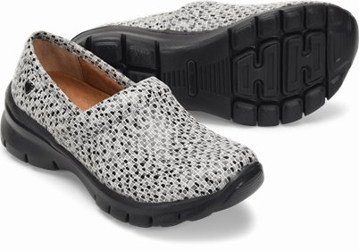 Libby shoes shown in grey mosaic