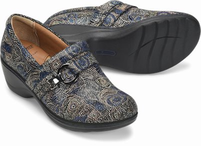 Kelsie shoes shown in Navy Mosiac