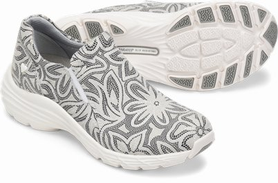 Align™ Dorin shoes shown in Grey Black Flower Print