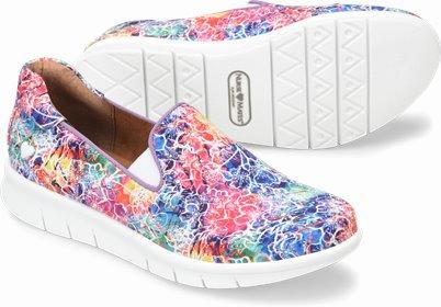 Sandy shoes shown in Tie Dye Rainbow