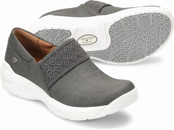 Cally shoes shown in Grey Linen