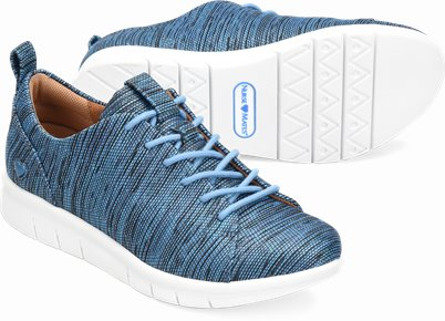 Sarina shoes shown in Pacific Blue
