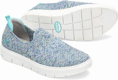 Adela II shoes shown in Aqua Woven