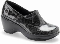 Bryar shoes shown in Dark Grey Paisley Patent