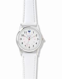Chrome Watch accessories shown in White Strap