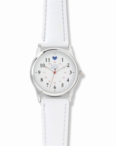 Chrome Watch accessories shown in White Strap