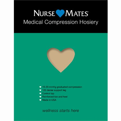 Medical Compression Hosiery shown in Nude