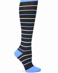 Space-Dye Compression accessories shown in Blue Stripes